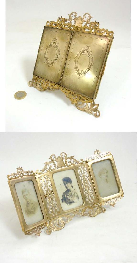 Alph Giroux of Paris : A gilt brass folding easel /