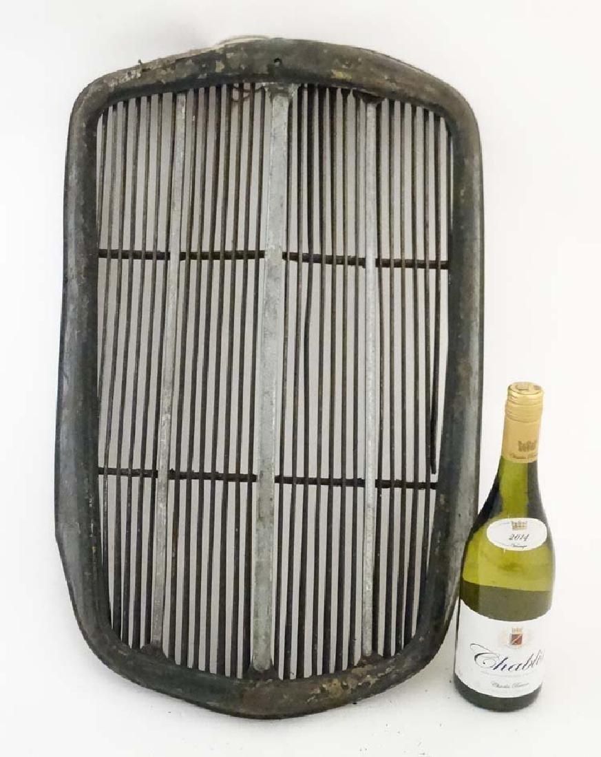 Automobilia : A Morris car radiator grill, approx 26''