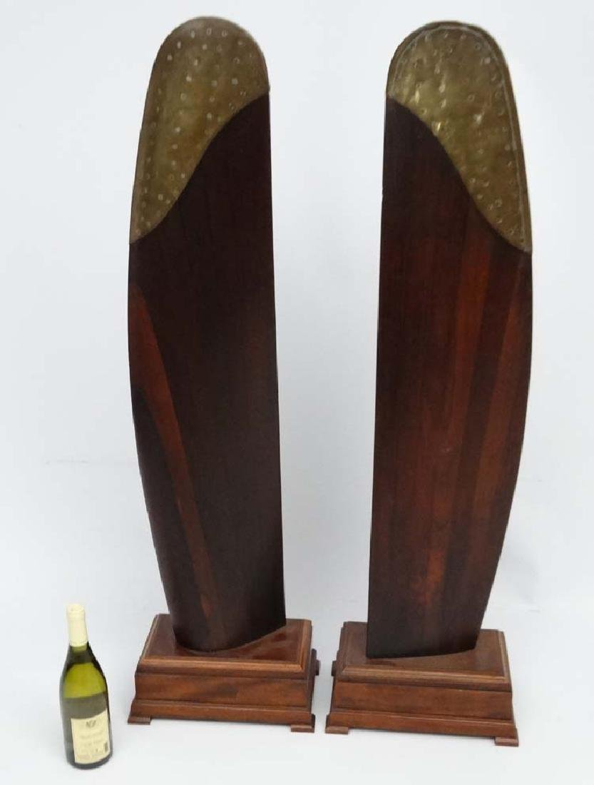 Militaria : A pair of early-mid 20c laminated hardwood