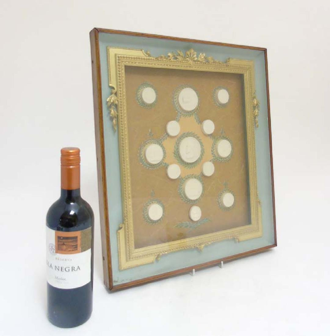 Grand Tour Intaglio seals : Framed display of  Grand