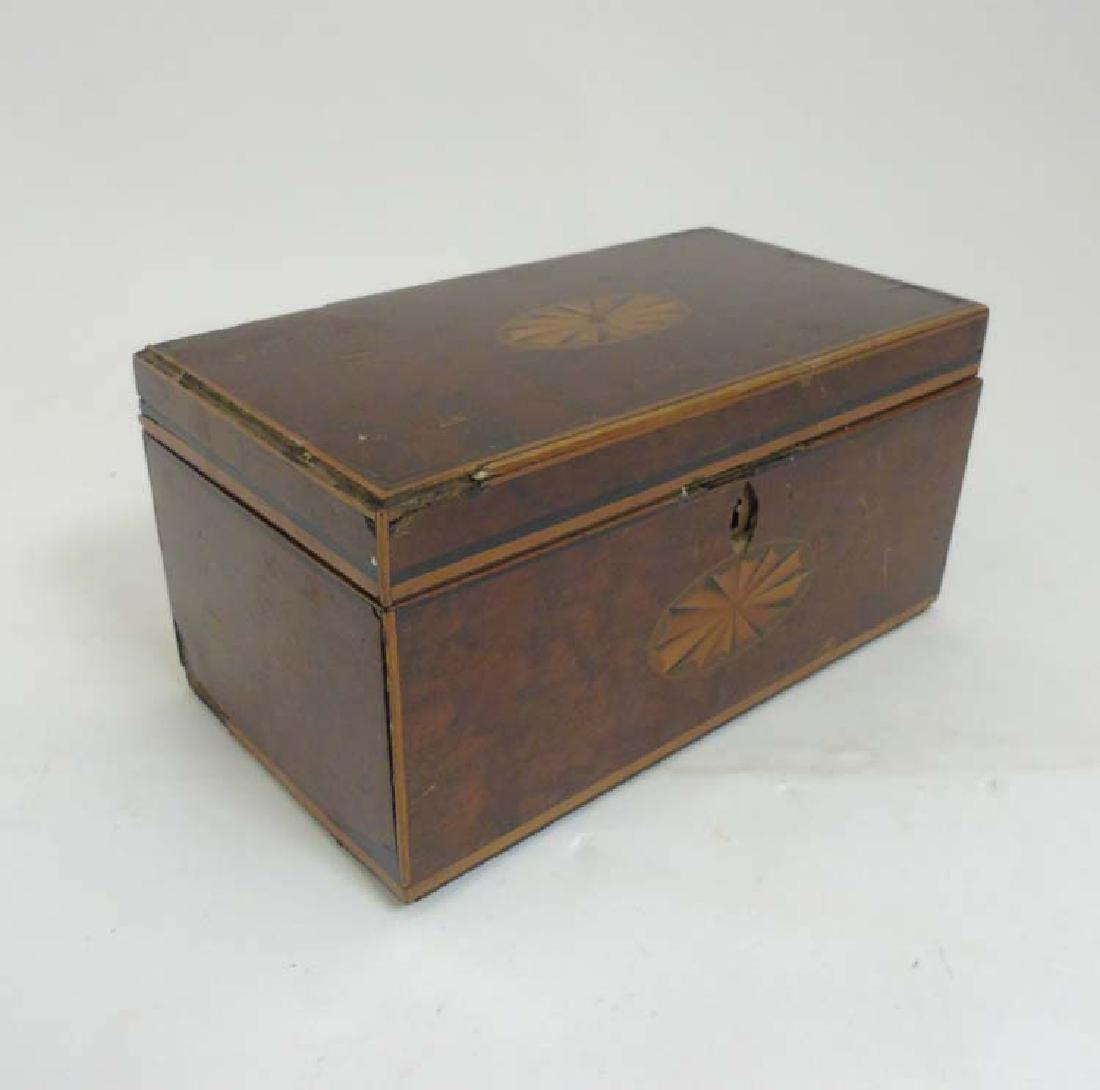 A late 19thC Neo Classical Sheraton mahogany box with