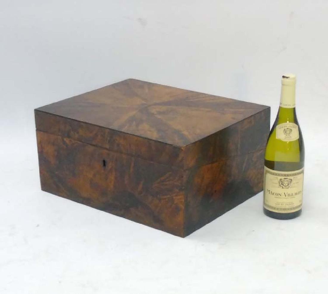 A Scottish stained hardwood writing box opening to