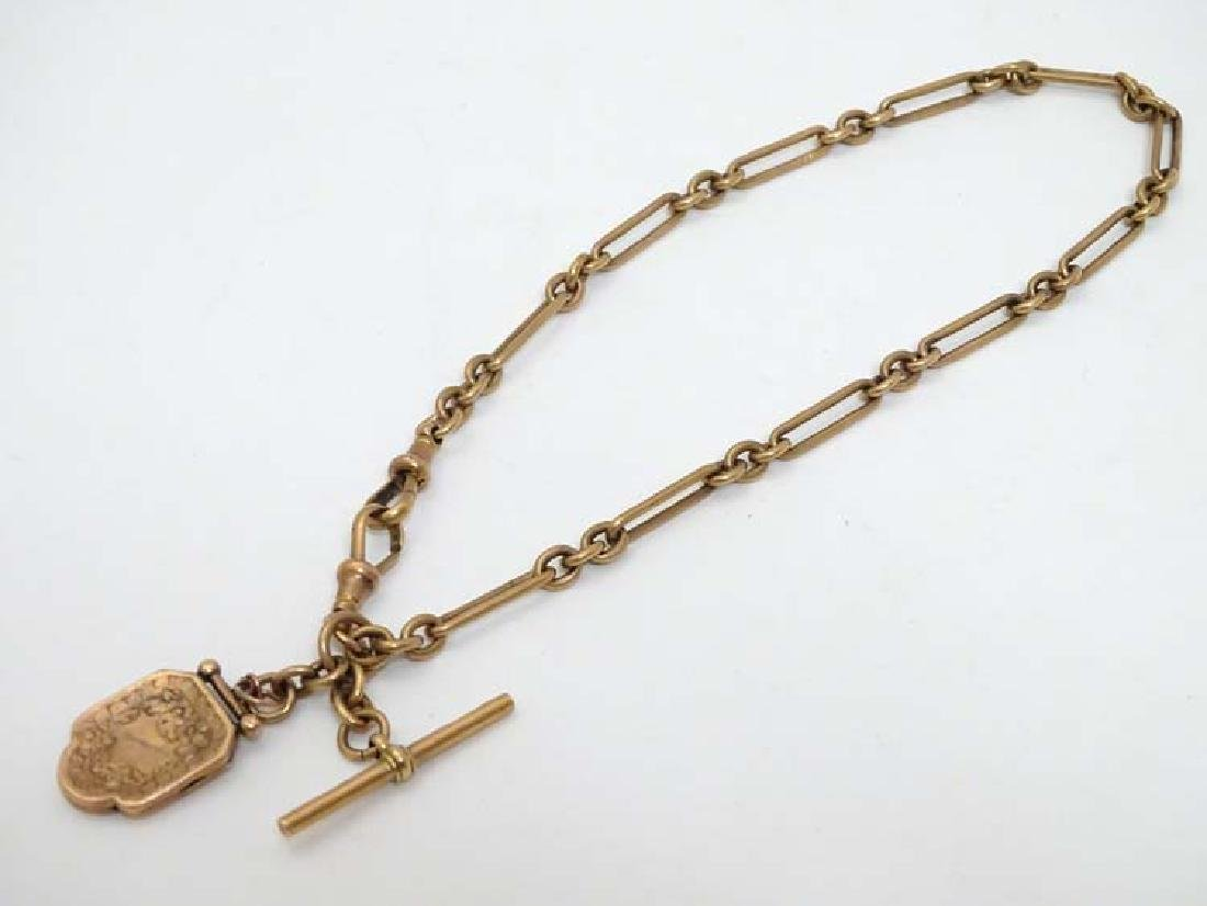 A 9ct gold Albert watch chain  maker J G & S, together