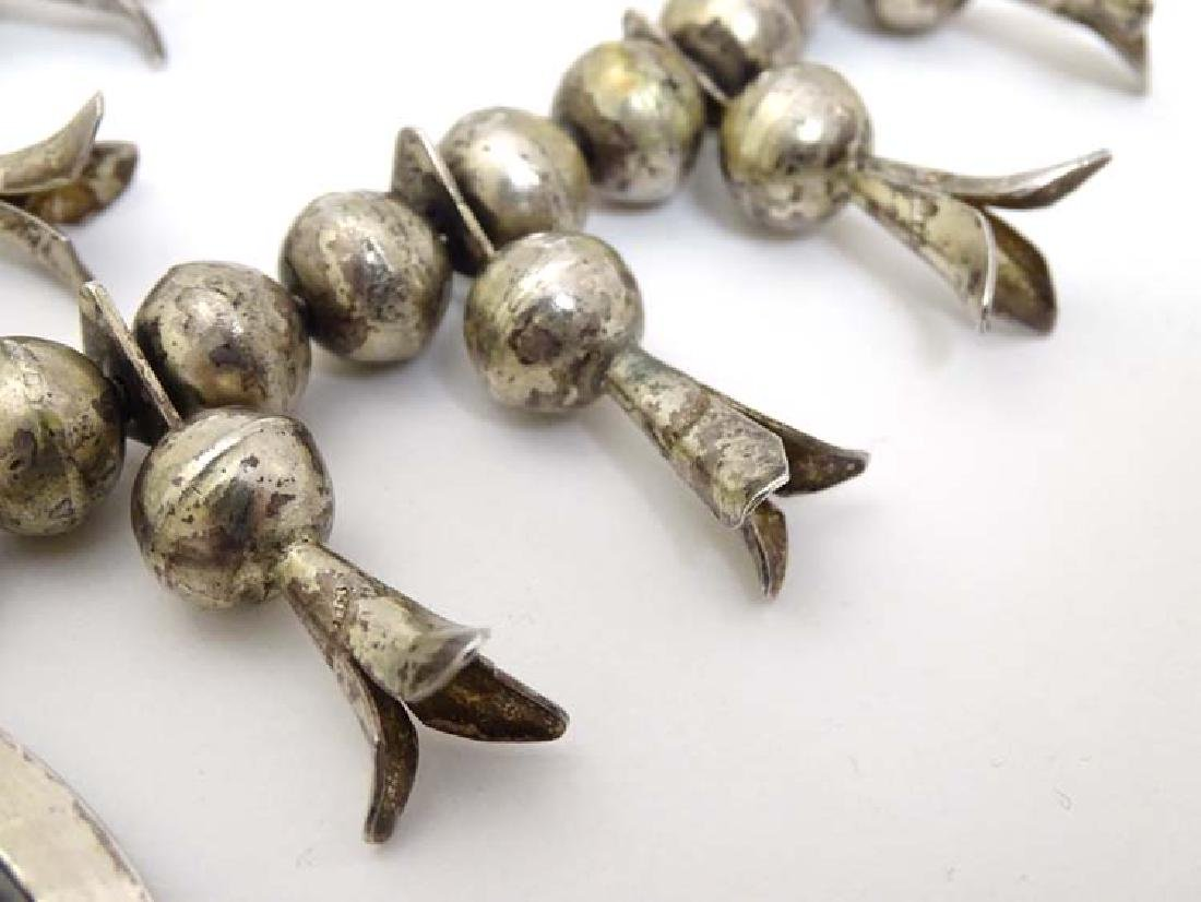 Native American jewellery: A mid 20thC white metal and - 2