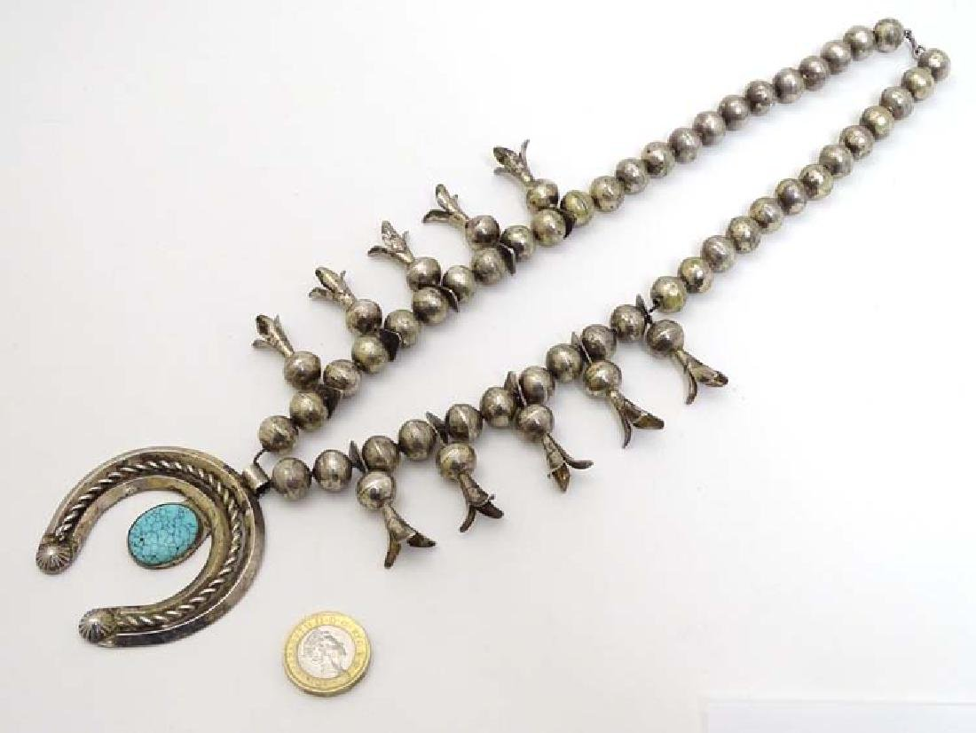 Native American jewellery: A mid 20thC white metal and - 3