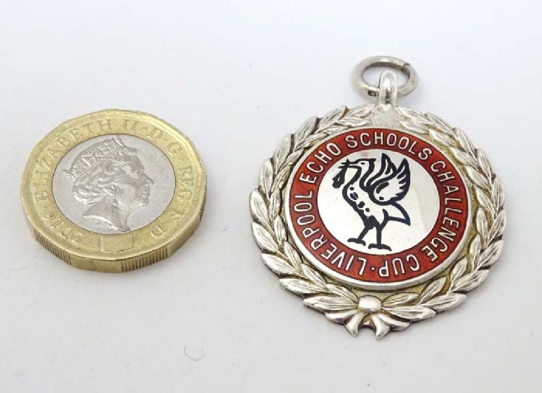 Silver Fob : Hall Marked Silver Fob with enamel