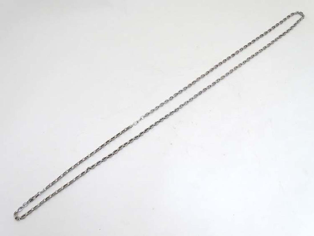 Ornate Silver Longuard  :  .925 Silver 61'' long with