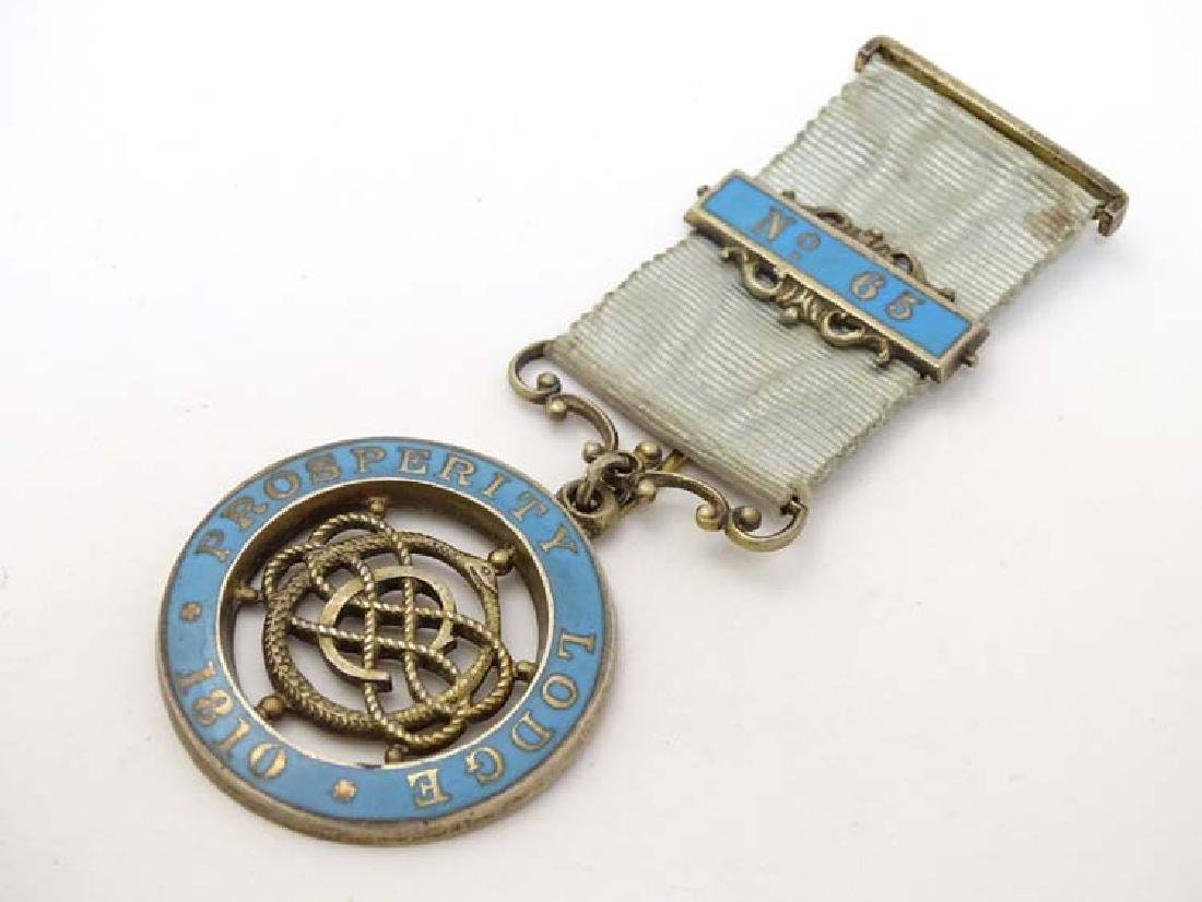 Masonic Jewel : A Masonic ' Prosperity Lodge  1810 '