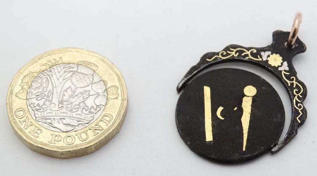 Masonic Interest: A  damascene style metal fob/ pendant