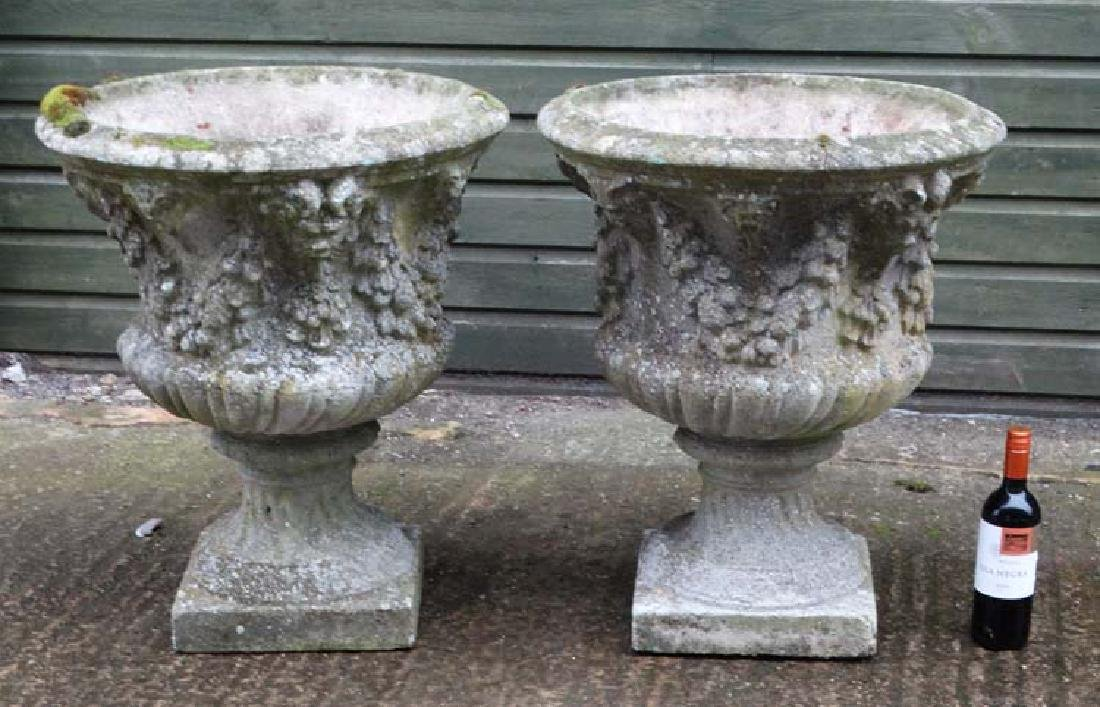 Architectural / Garden Salvage : a pair of 19 /20 th C