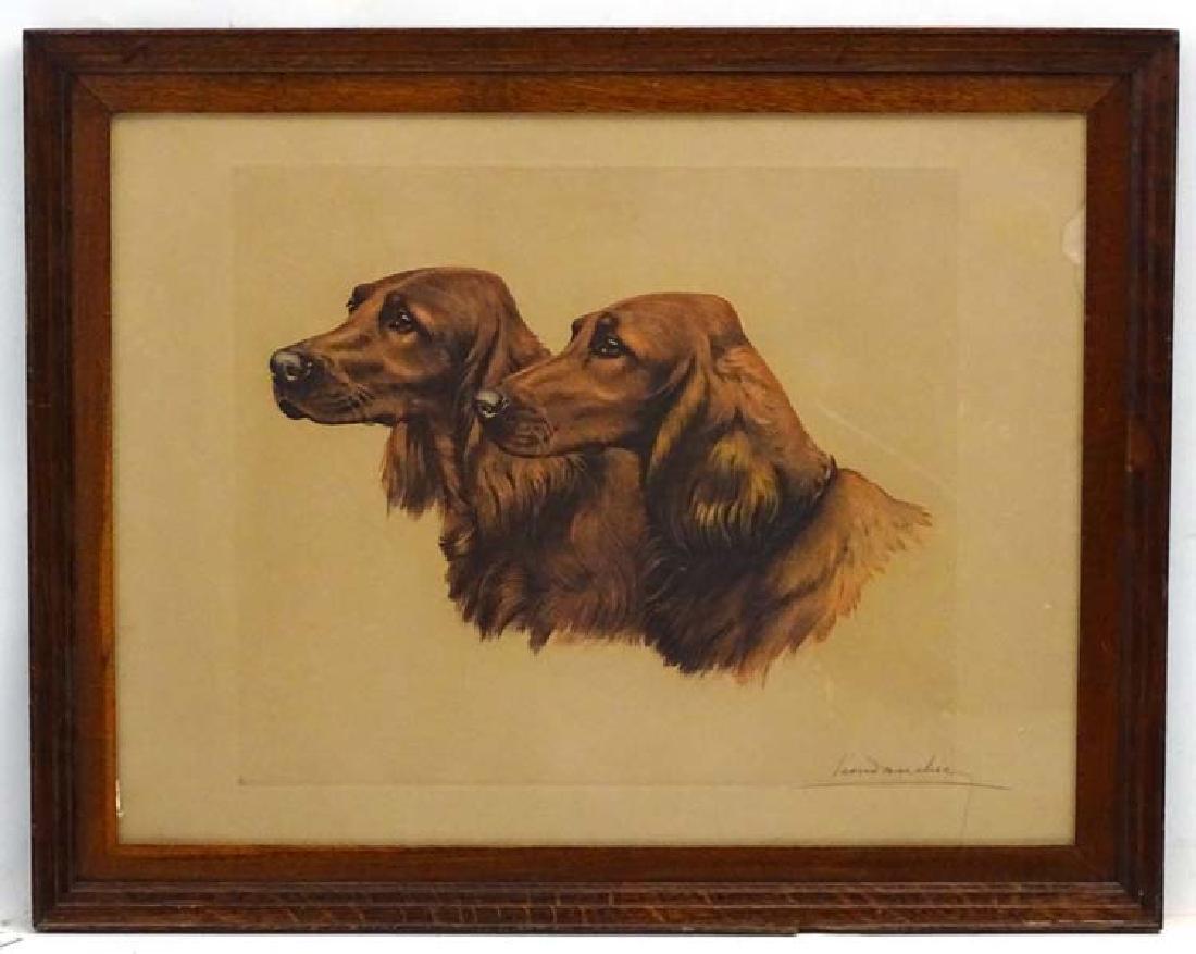Gun dogs: Leon Danchin (1887-1938), Coloured