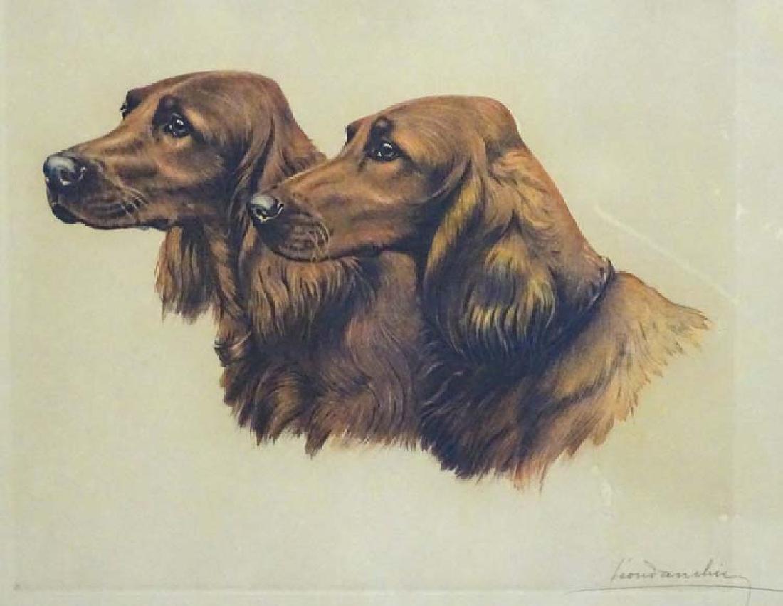 Gun dogs: Leon Danchin (1887-1938), Coloured - 3