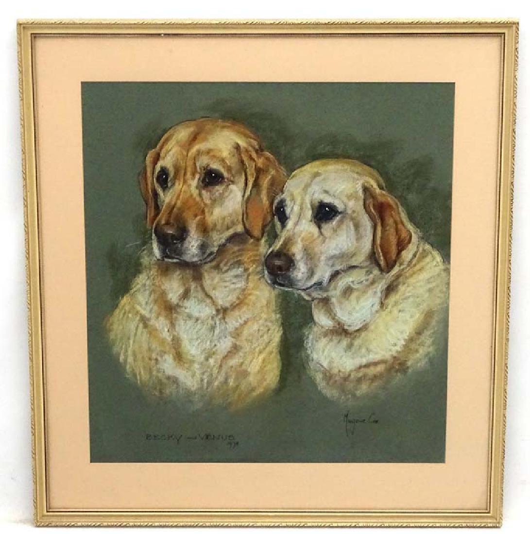 Gun Dogs: Marjorie Cox (1915-2003), Pastel and