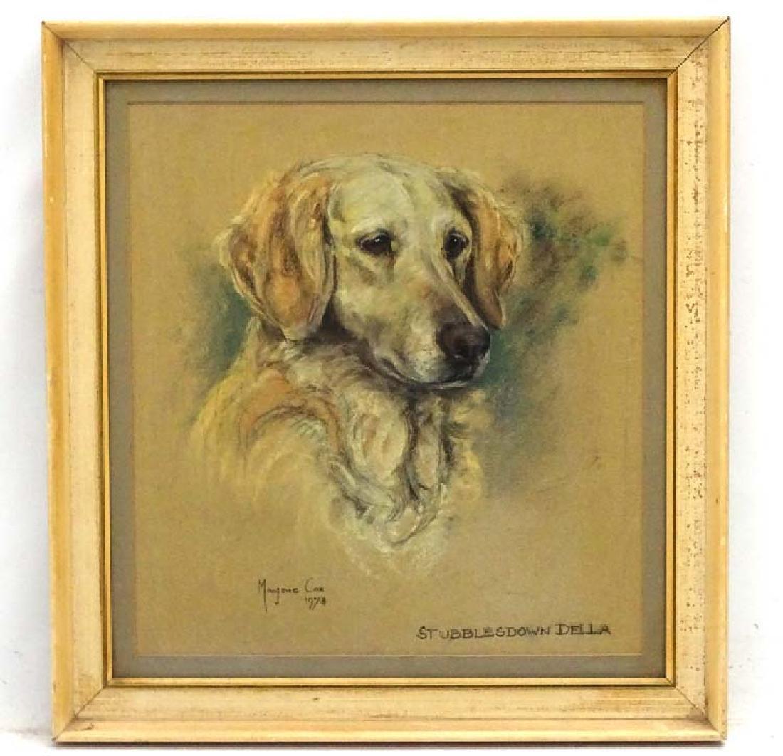 Gun Dog: Marjorie Cox (1915-2003), Pastel and charcoal,