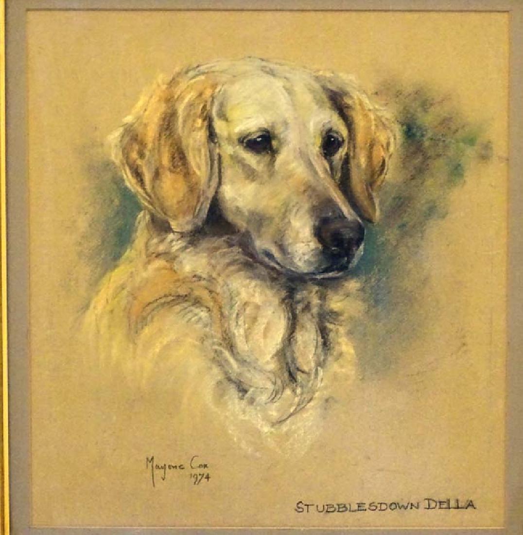 Gun Dog: Marjorie Cox (1915-2003), Pastel and charcoal, - 3