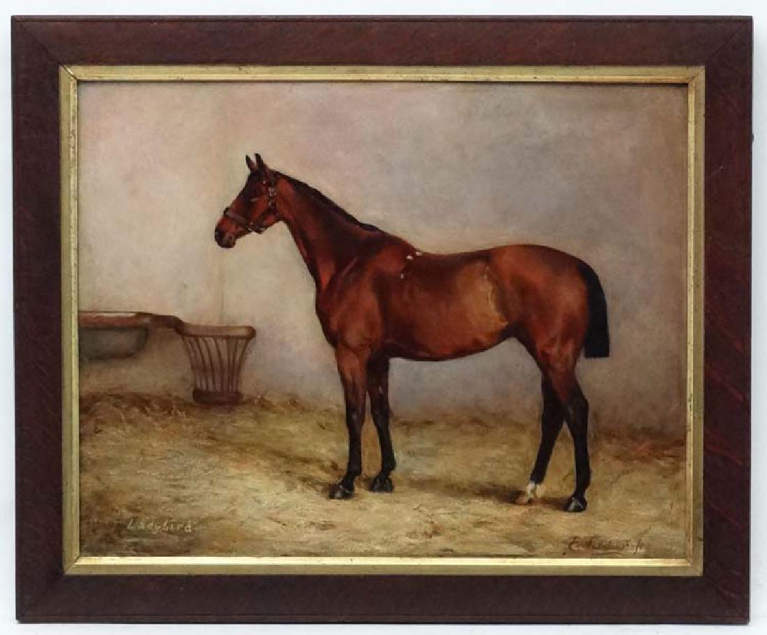 E Tudor XIX- XX Equine School, Oil on canvas, '