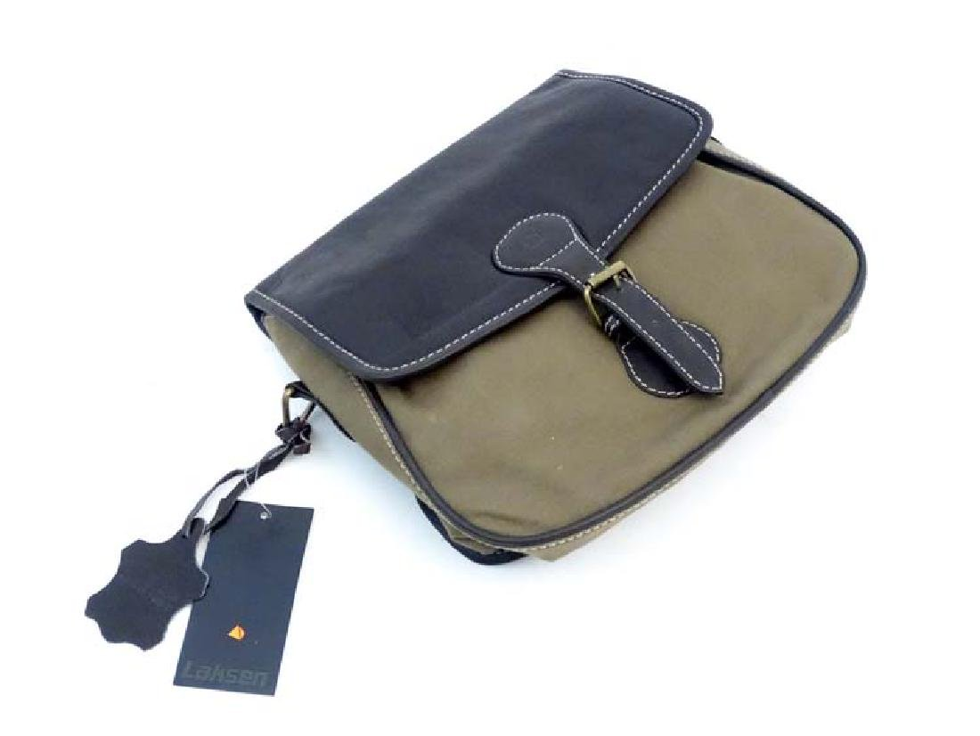Shooting: A Laksen canvas and leather cartridge bag - 3