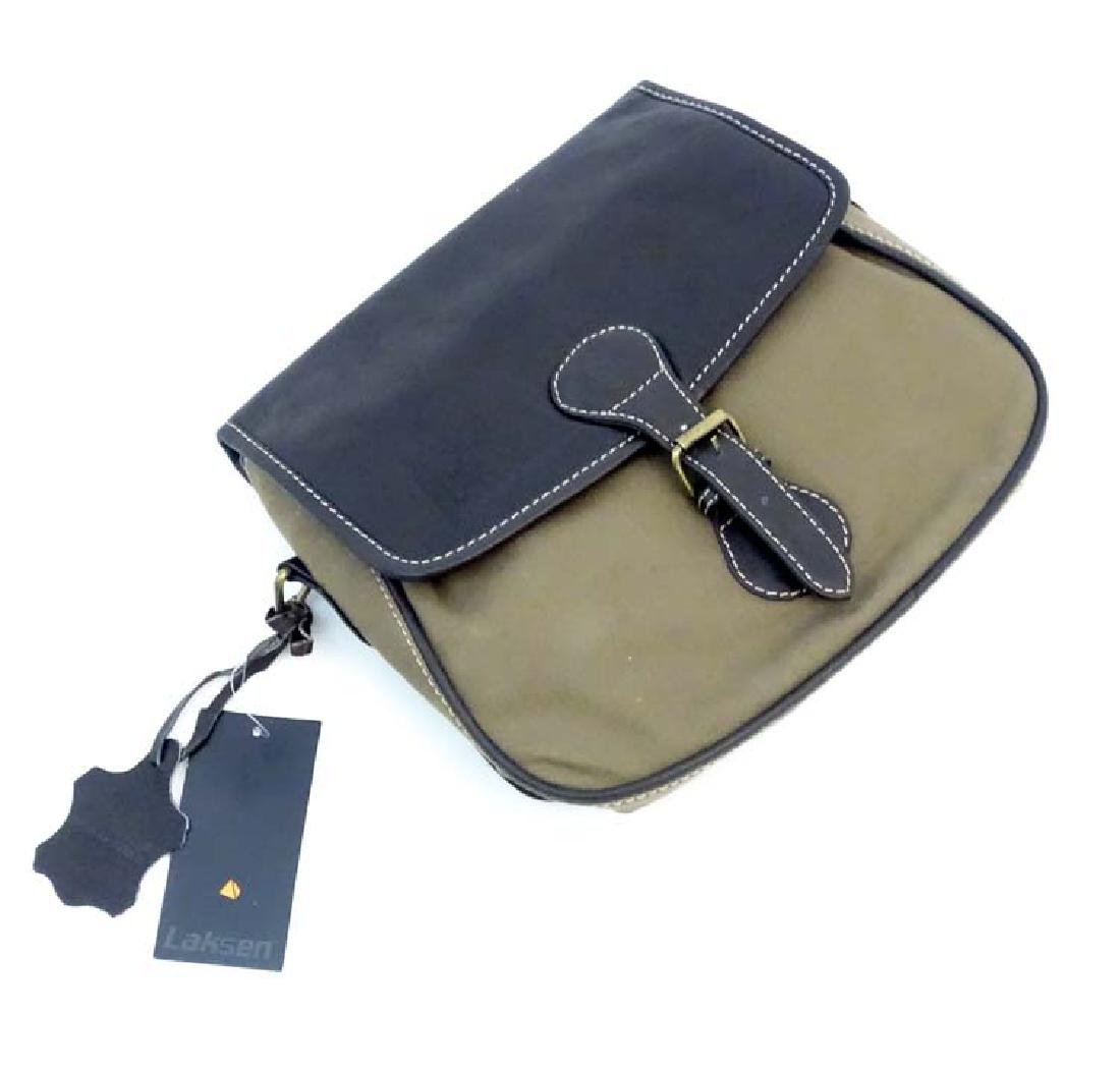 Shooting: A Laksen canvas and leather cartridge bag - 5