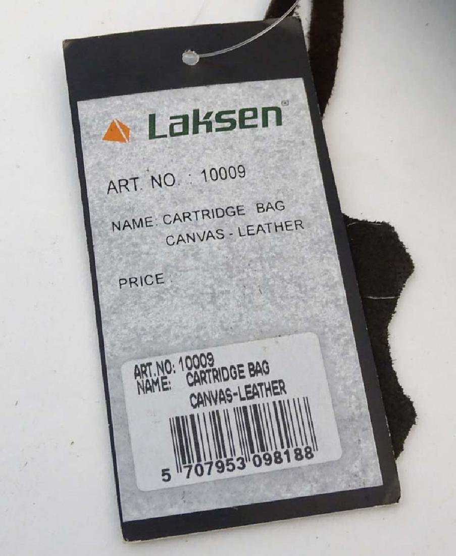 Shooting: A Laksen canvas and leather cartridge bag - 7