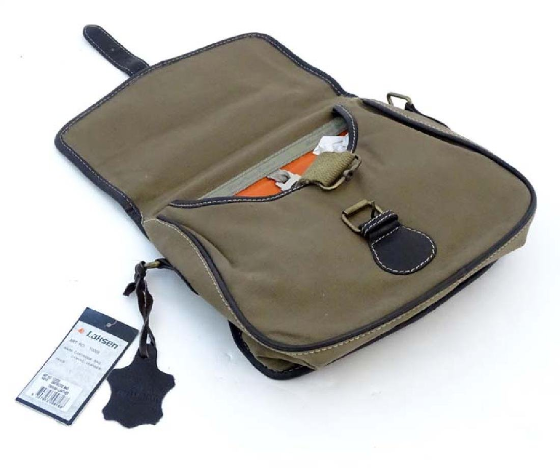 Shooting: A Laksen canvas and leather cartridge bag - 8
