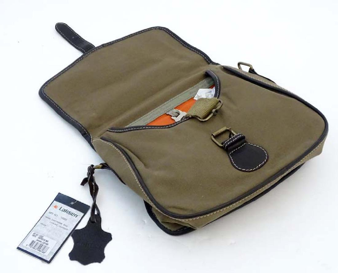 Shooting: A Laksen canvas and leather cartridge bag - 9