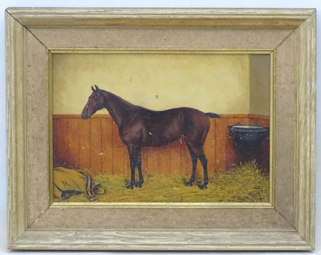 A Thompson mid XX, Oil on panel, Race horse called