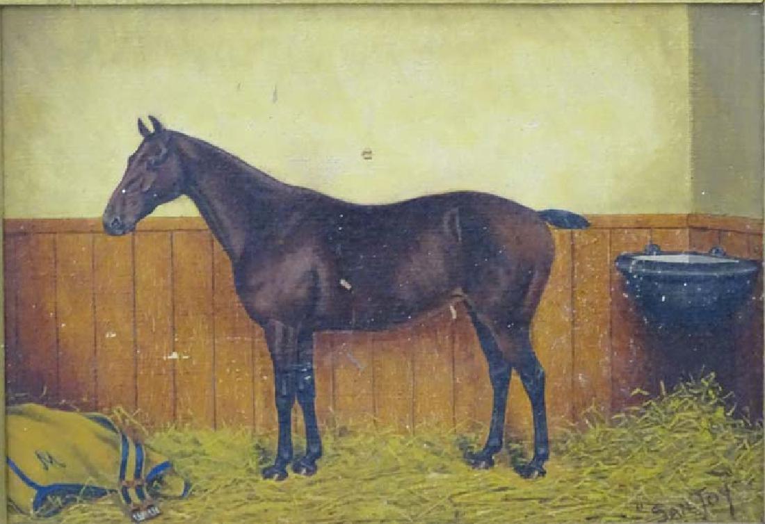 A Thompson mid XX, Oil on panel, Race horse called - 4