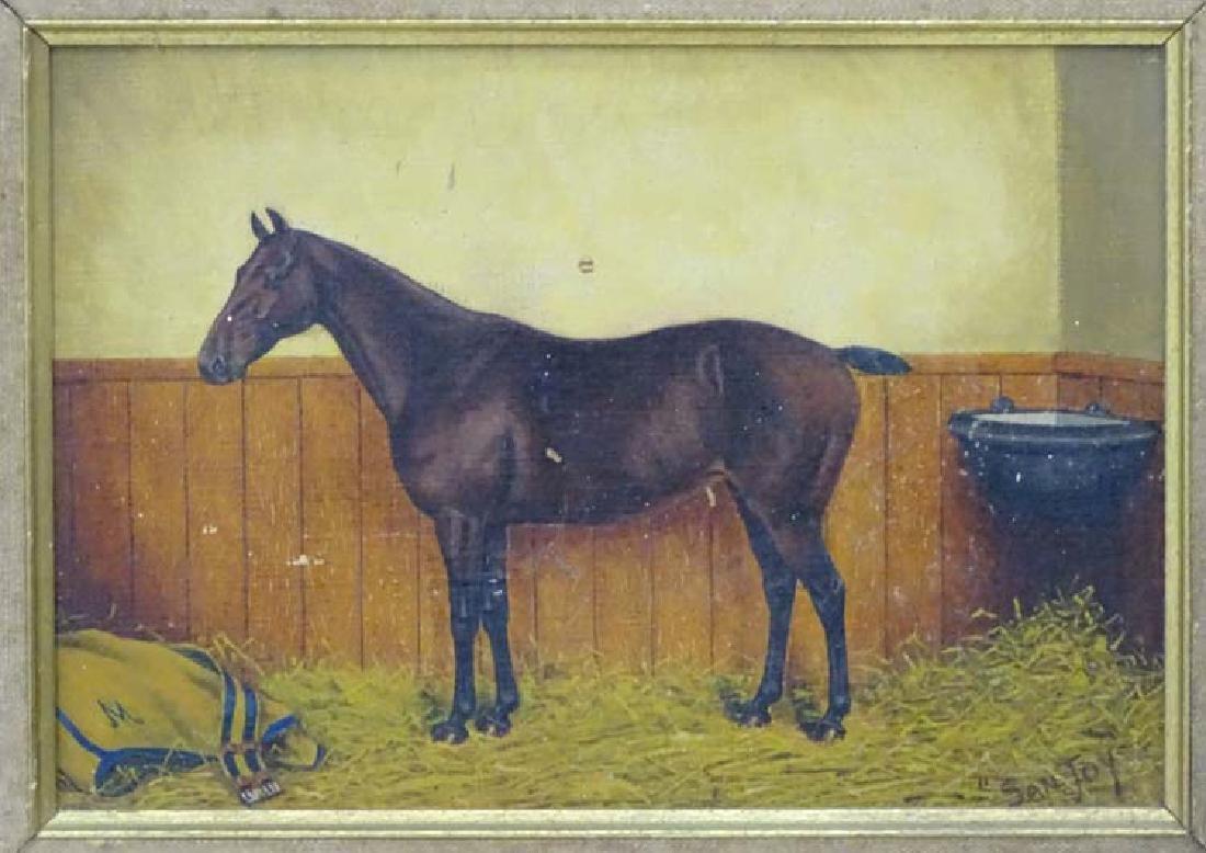 A Thompson mid XX, Oil on panel, Race horse called - 5