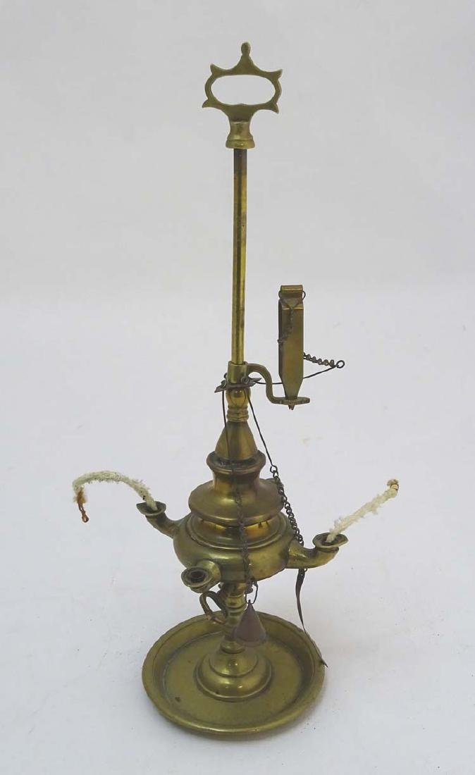 Arabic Oil Lamp : a cast brass classical style oil lamp