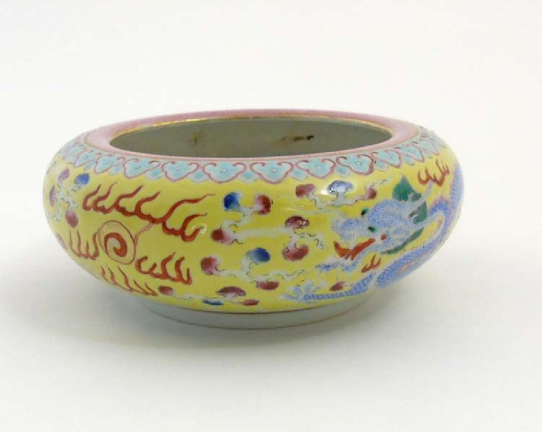 A Chinese enamelled famille rose dragon brush pot, - 4