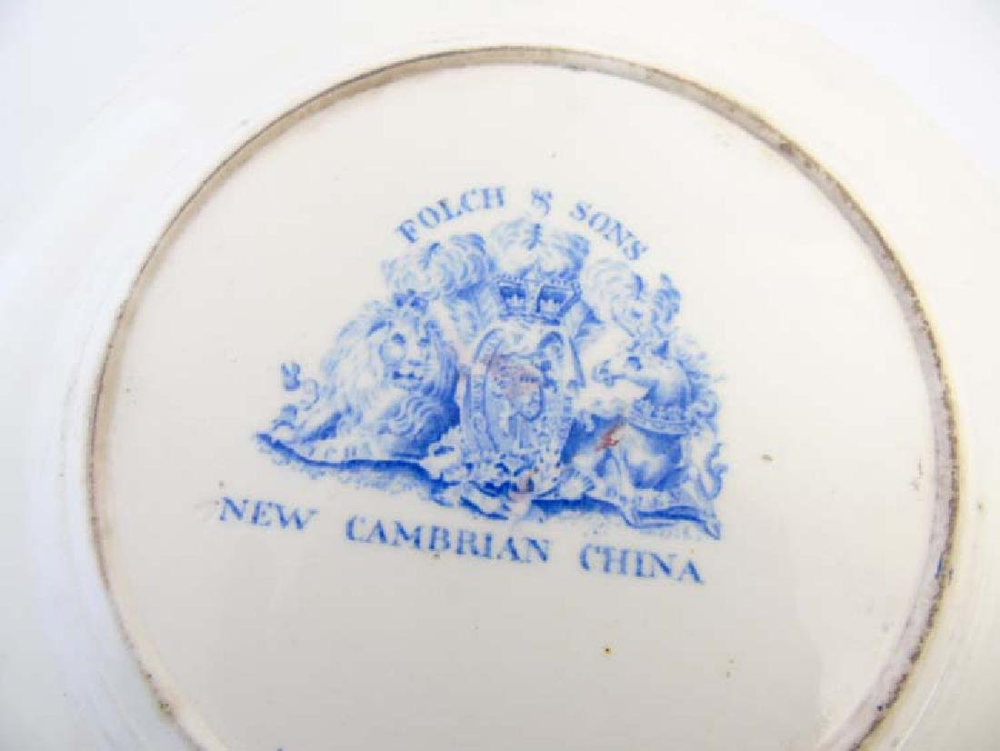 A pair of 19thC Folch & Son plates with blue transfer - 2