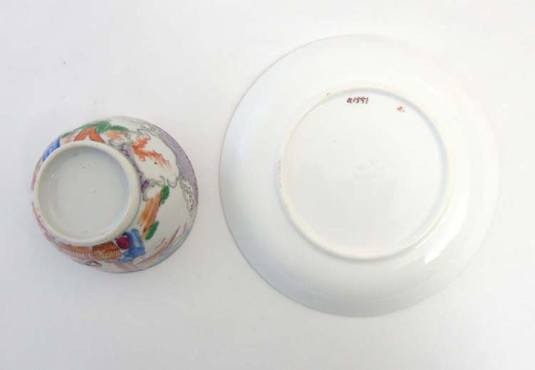 A matched tea cup and saucer comprising a 19thC Minton - 2