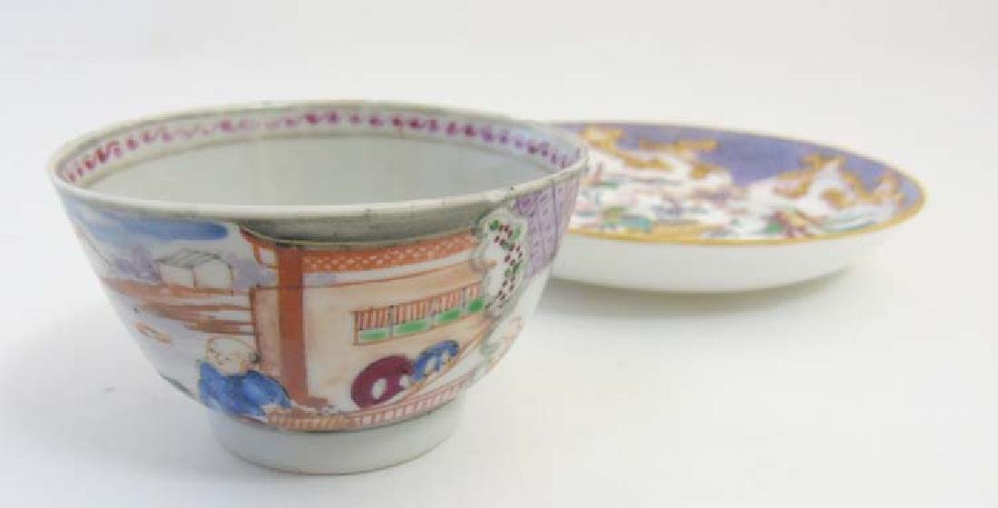 A matched tea cup and saucer comprising a 19thC Minton - 3