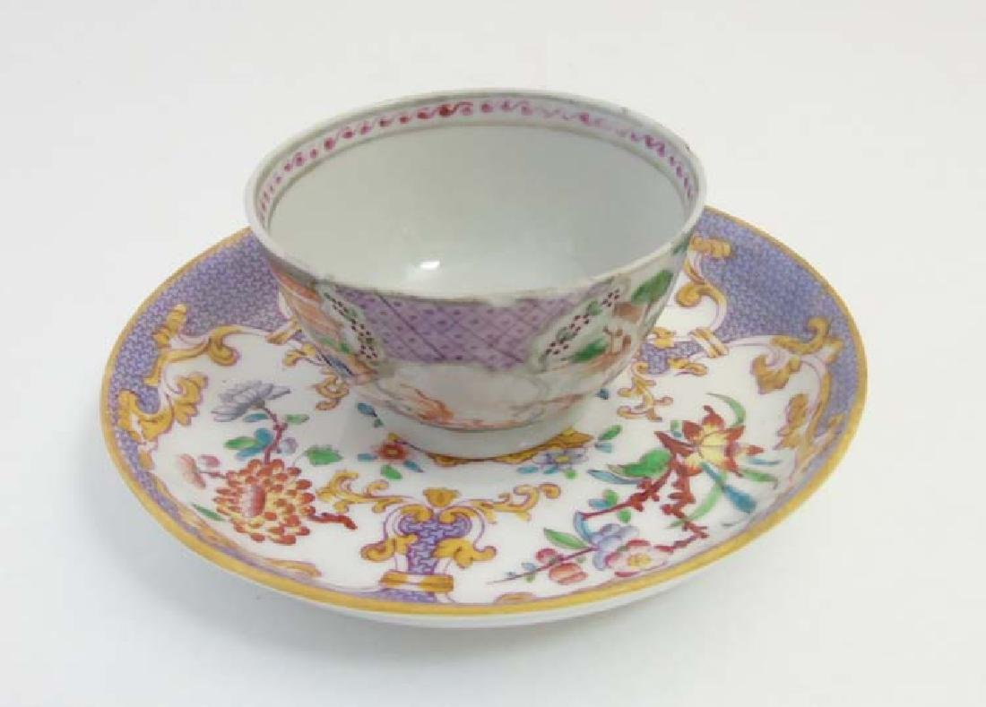 A matched tea cup and saucer comprising a 19thC Minton - 4