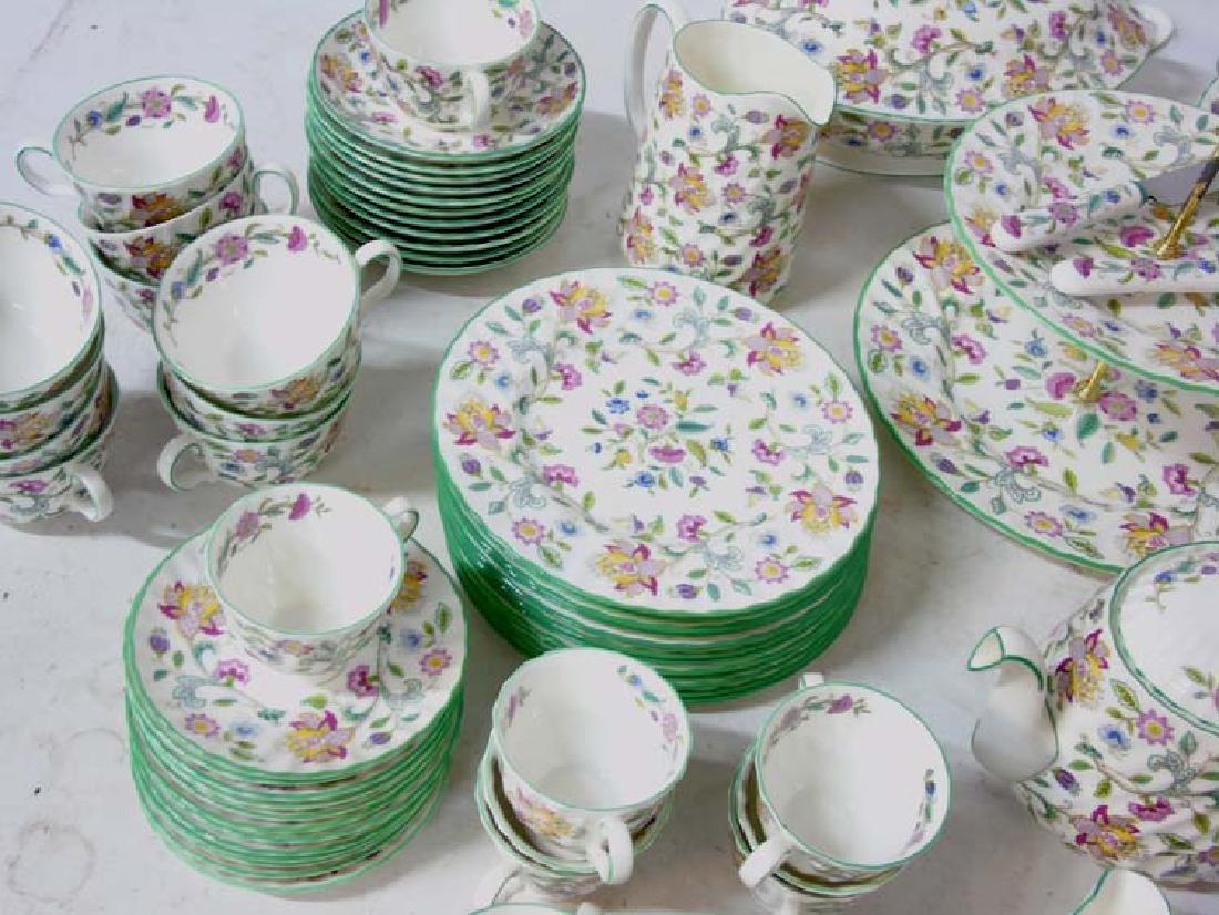 Minton Haddon Hall: A large quantity of green rim - 6