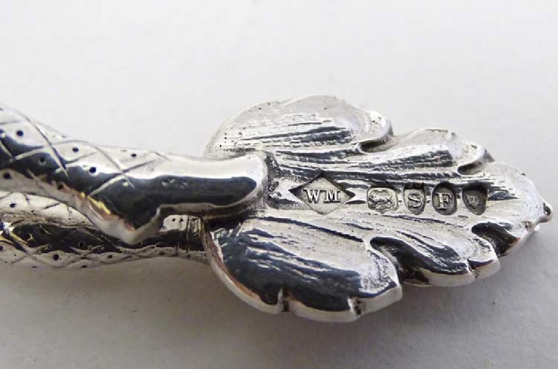 A pair of Victorian silver novelty harlequin sugar - 6