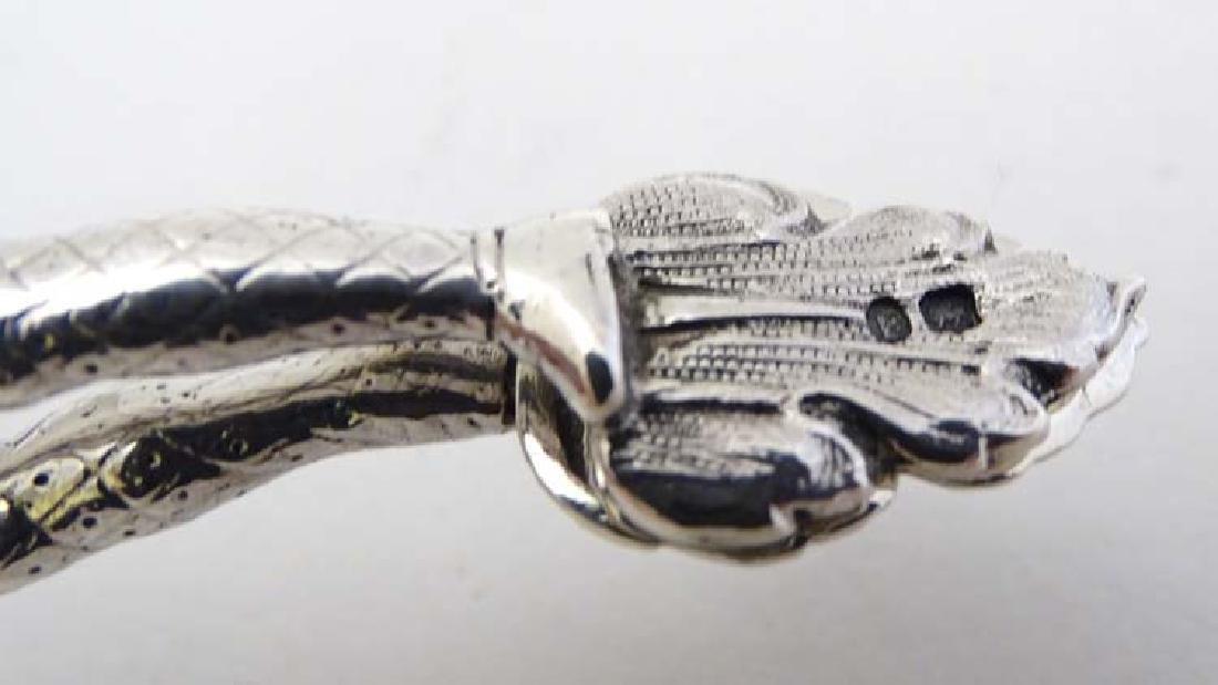 A pair of Victorian silver novelty harlequin sugar - 7