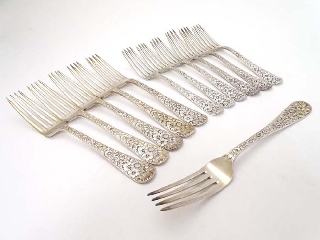 Tiffany and Co : A set of 6 silver plate dessert forks - 5