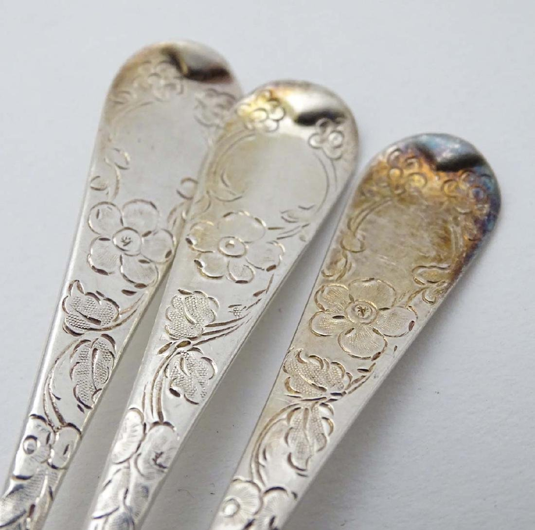 Assorted items comprising 3 Victorian silver teaspoons - 2