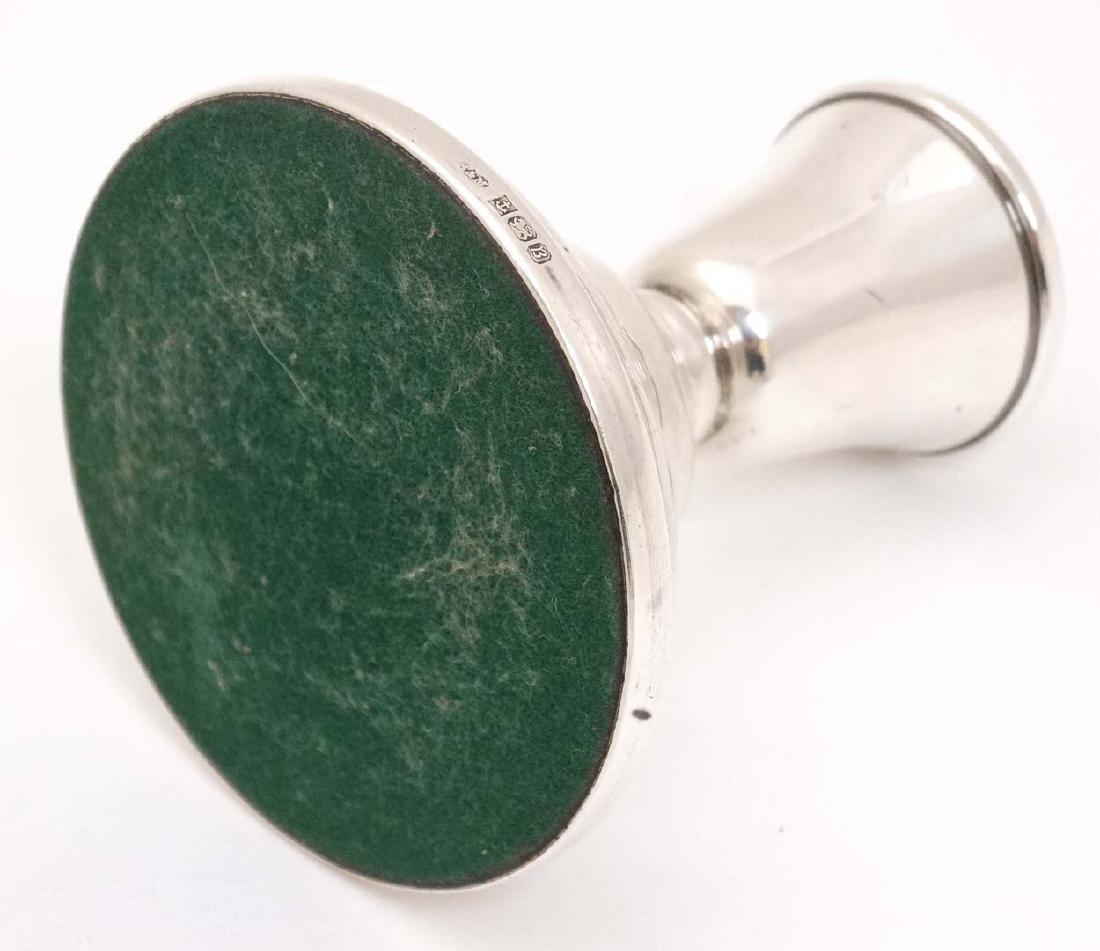 A silver candlestick hallmarked Birmingham 1976 maker - 5