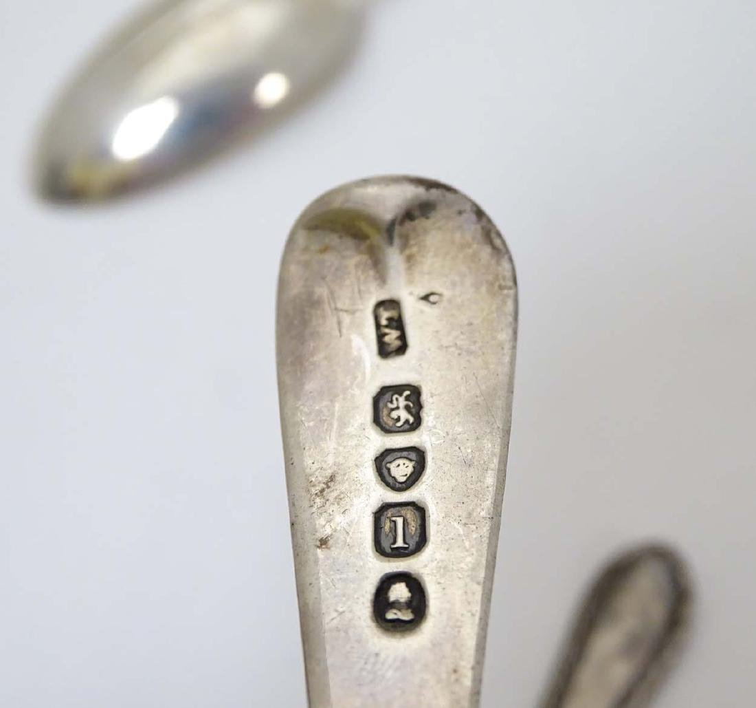 4 various spoons 1 x hallmarked London 1938 maker - 9