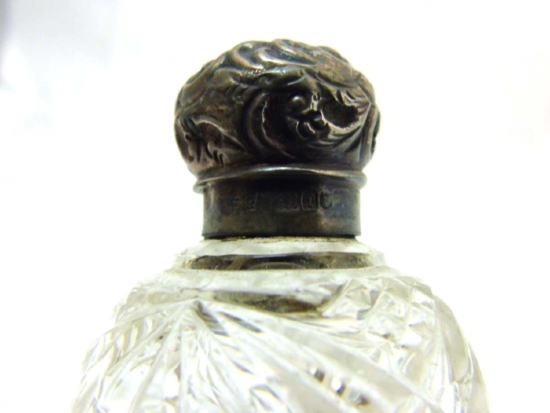 Glass Scent bottles : to include two HM Silver scent - 2