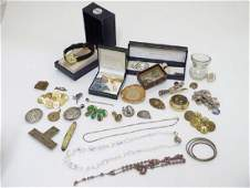 Assorted items to include costume jewellery, watch