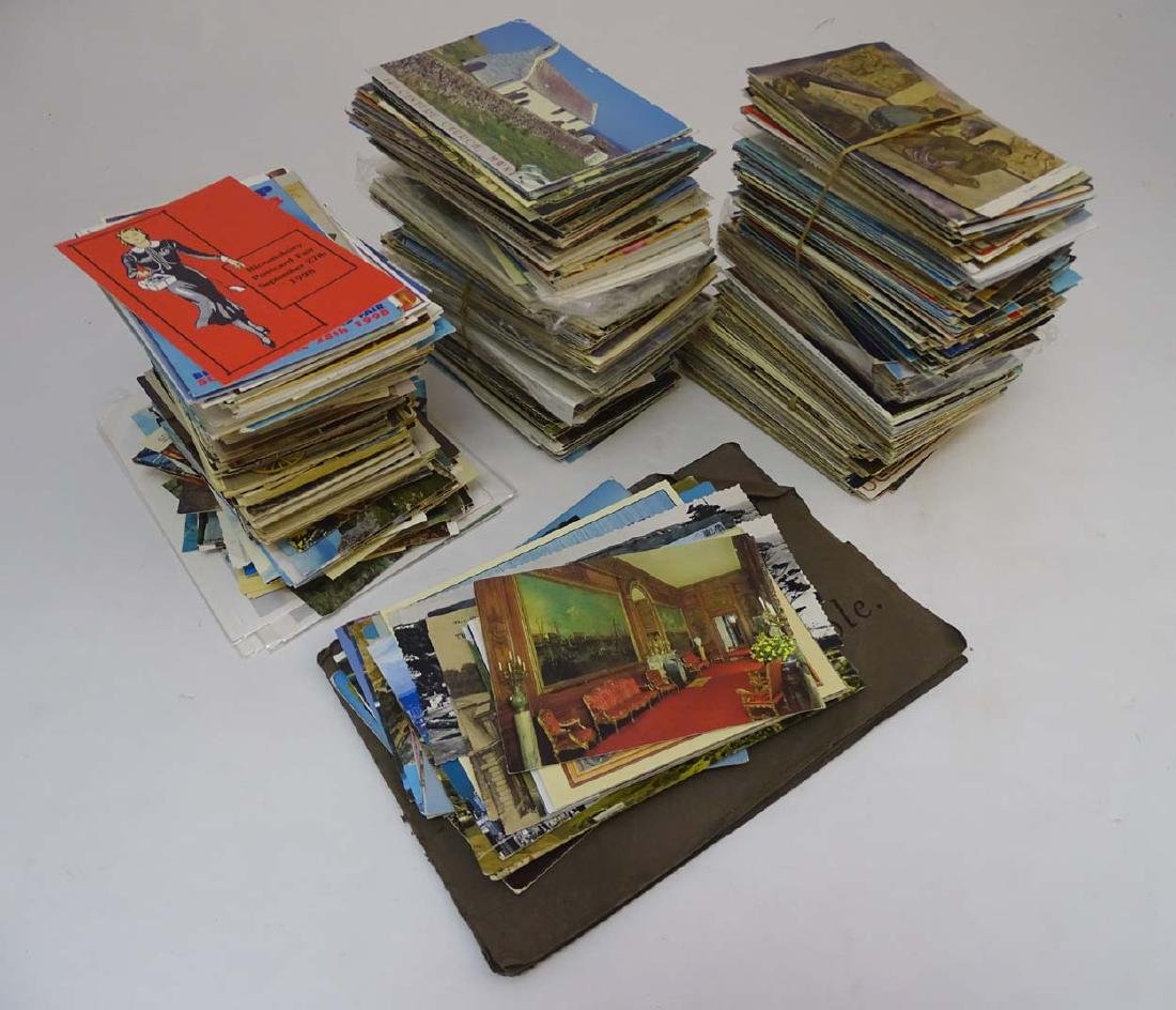 Postcards: An extensive collection of predominantly