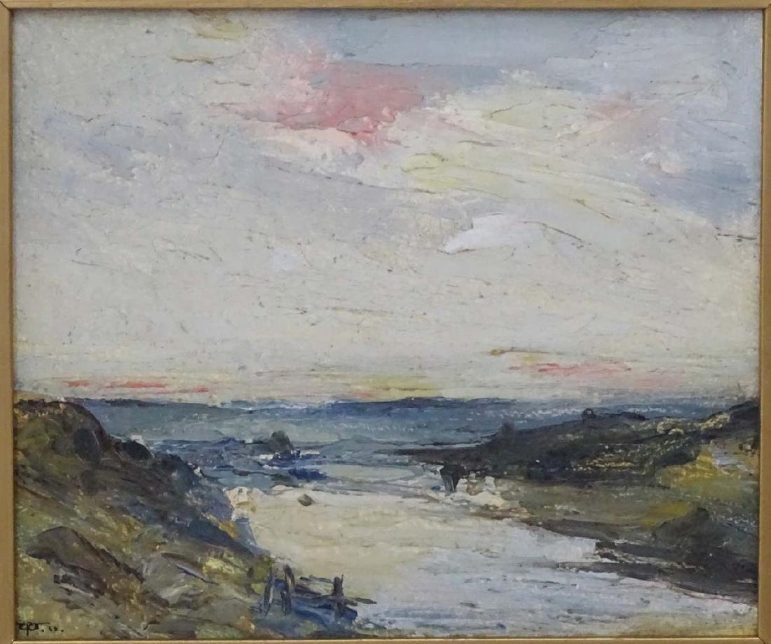 Early XX English School, Oil on board, River Landscape, - 3