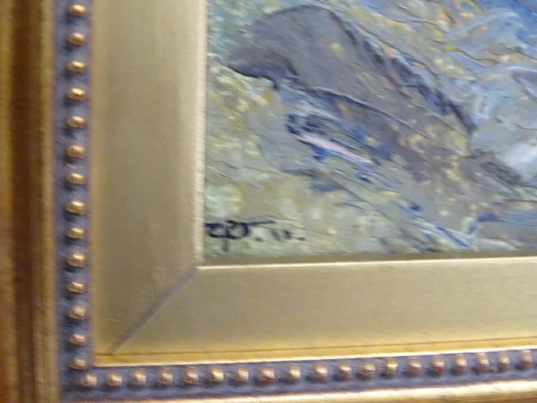 Early XX English School, Oil on board, River Landscape, - 5