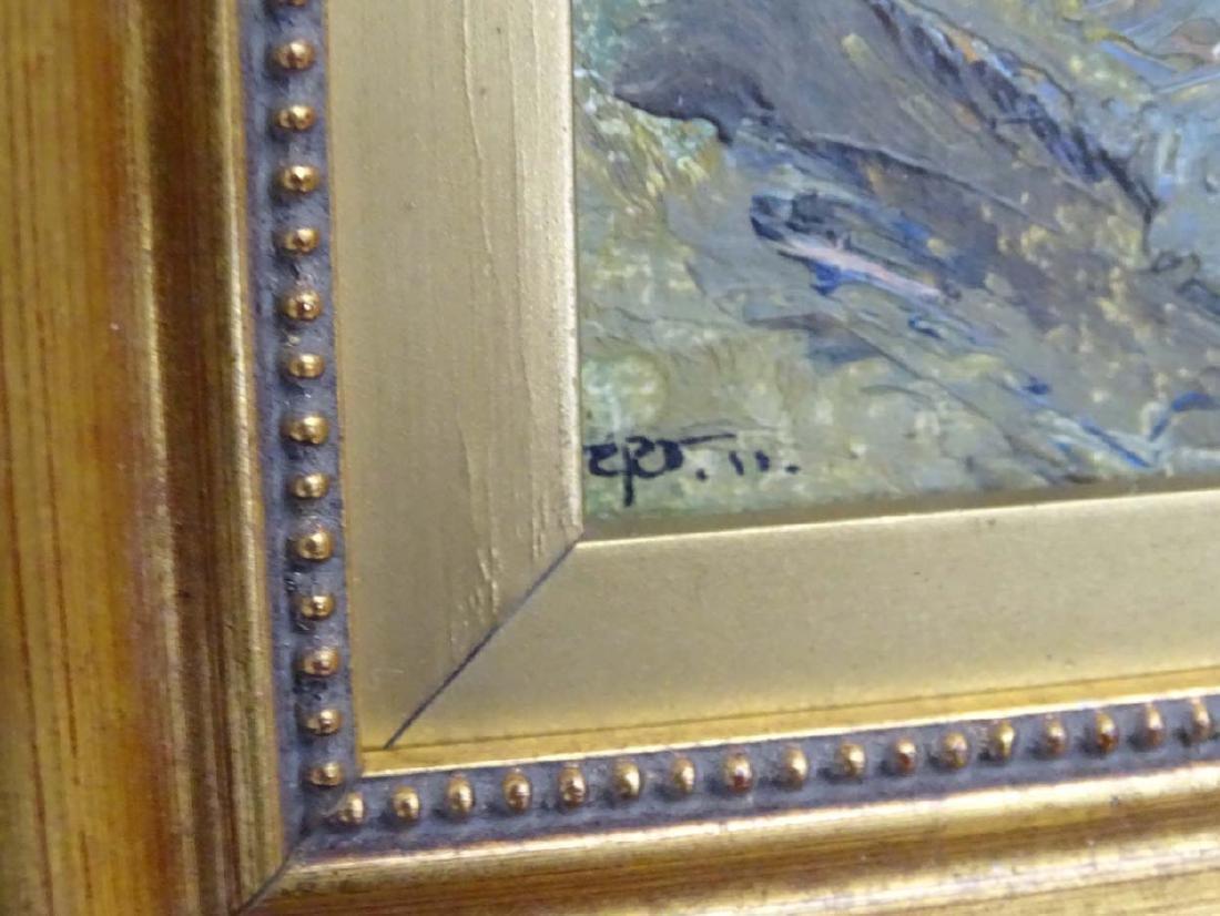 Early XX English School, Oil on board, River Landscape, - 6