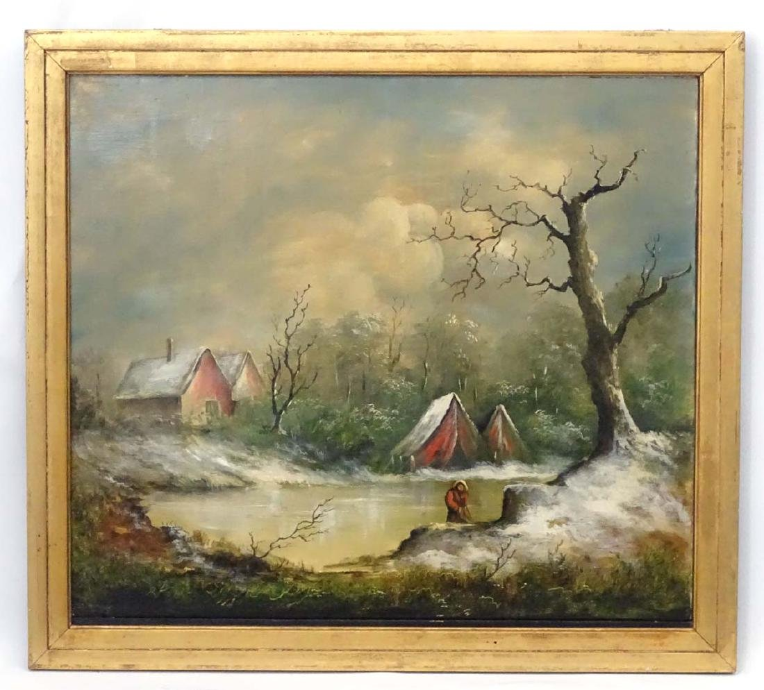 C.1930 Continental School, Oil on canvas, A frozen - 3