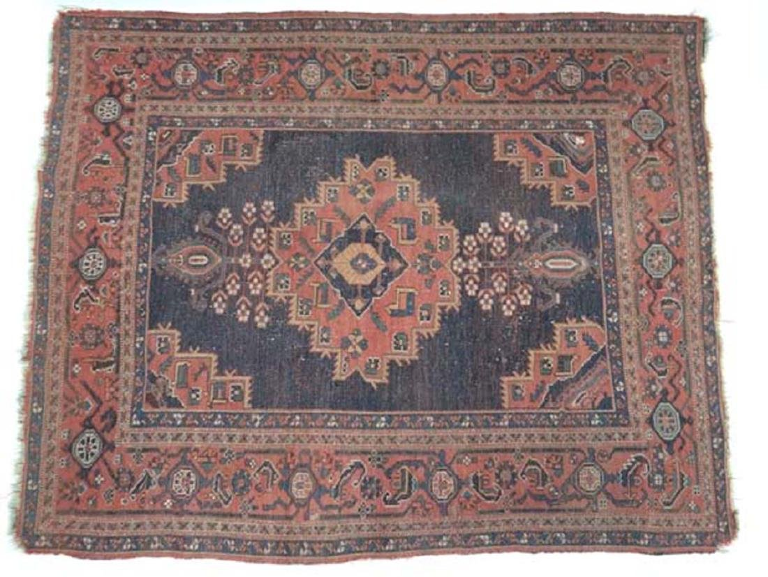 Carpet / Rug: An old Afghanistan rug with mainly dark
