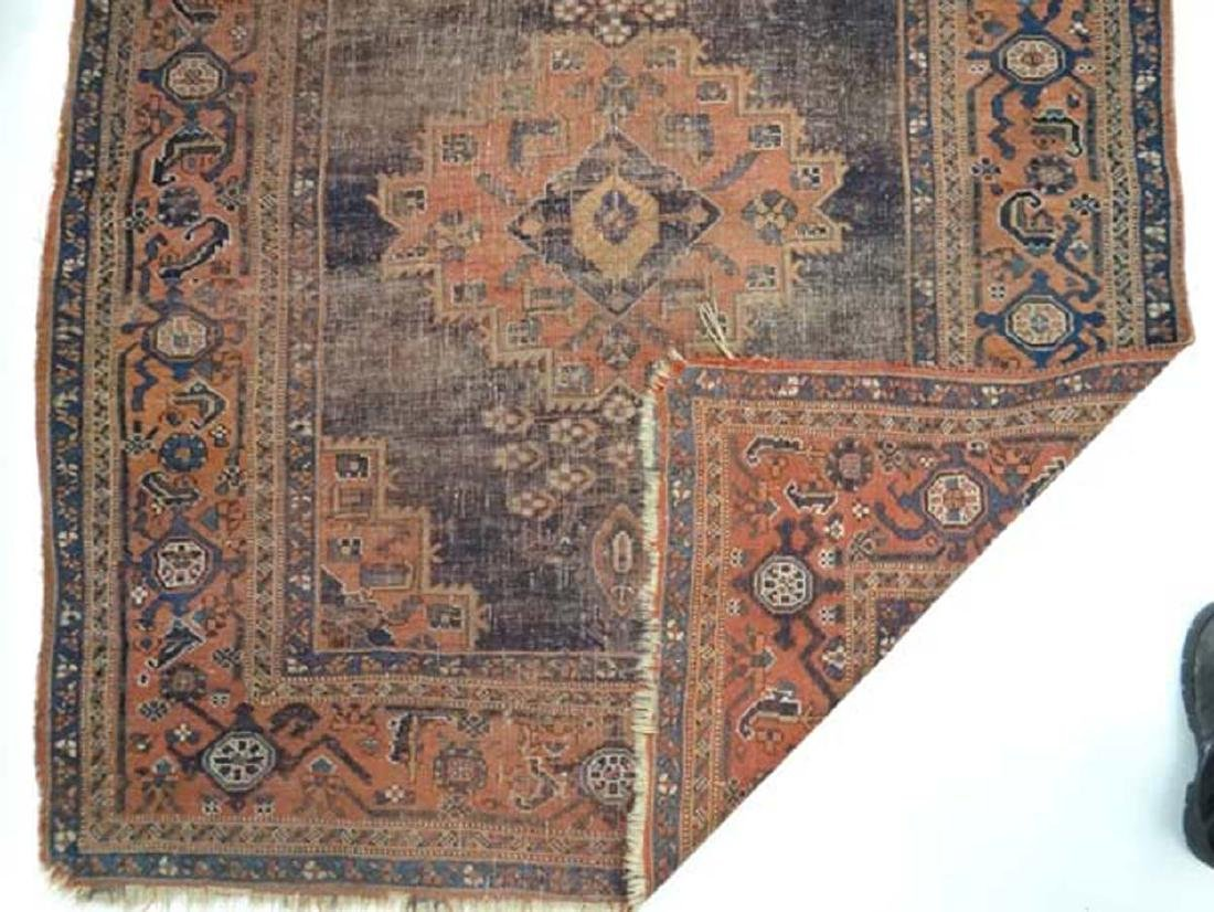 Carpet / Rug: An old Afghanistan rug with mainly dark - 3
